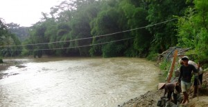 Warga Keluhkan Air Teh Susu di Sungai Tajum